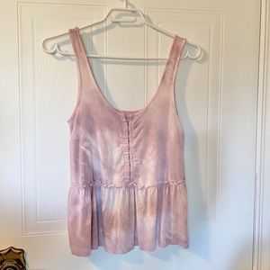 American Eagle 90's inspired tie die tank w/ clasp